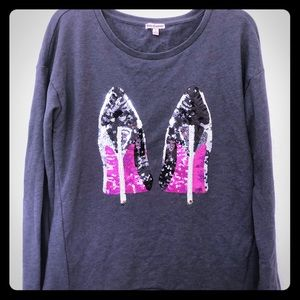 Juicy Couture sequin stilettos sweatshirt